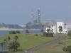 竹崎展望台より発射台を望む
