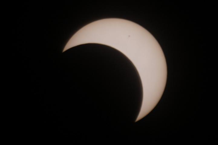 金環日食 07:56