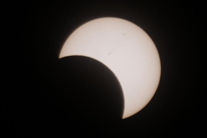 金環日食 08:13
