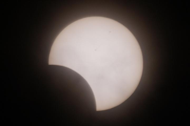 金環日食 08:31
