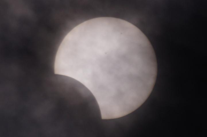 金環日食 08:37