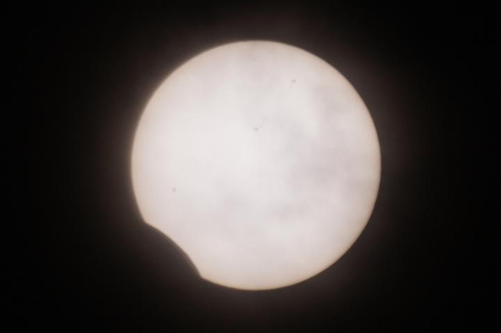 金環日食 08:54