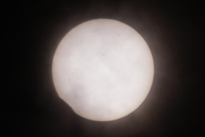 金環日食 08:57