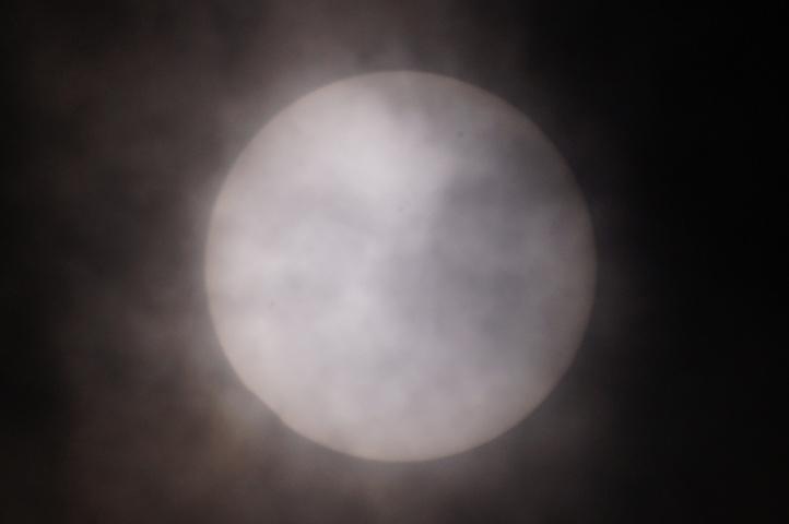 金環日食 08:59