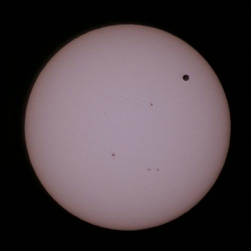 金星の太陽面通過 12:17