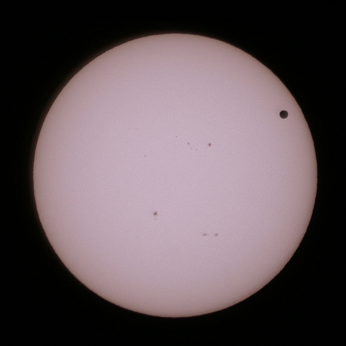 金星の太陽面通過 13:02