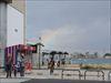 門司港駅から見た虹